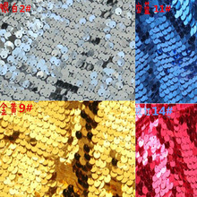 9mm coupon paillette embroidered fabric sequin embroidered picture table cloth fabric