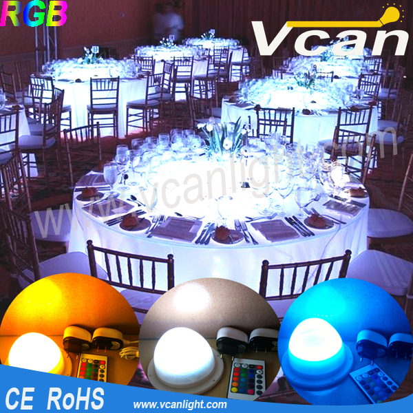 Fast Free Shipping Bright RGB Colorful Wedding Table Cake Table Decoration Led Light<br>