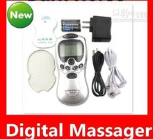 10pcs/lot free-shipping full English Health herald Tens Acupuncture Digital Therapy Machine Massager Slimming machine(China)