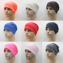 16 Candy Colors Men Women Cotton Beanie Soft Pile Cap Spring Winter Skull Cap Hats Gorro Hip Hop Punk Unisex Knitted Caps(China)