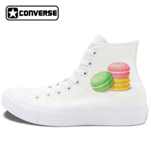 Macaron Converse Shoes Chuck Taylor II Design French Dessert Pastry Canvas Shoes Sneakers Men Women Pumps All Star(China)