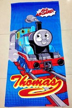 75*150cm Cartoon Thomas train Towels baby bath towel Children Beach Bath Towel Cartoon Princess Girls Bikini Covers(China)