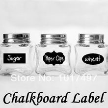 Hot Cute Chalkboard Sticker Labels Vinyl Kitchen Pantry Organizing Home Sticker 3 Design 36 Decals NEW HOT 5CM X 3.5CM