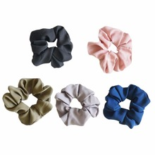 2017 New 5-Color Women Elastic Cloth Hair Bands Scrunchie Hair Tie Ring Rope Girls' Ponytail Holder Casual Headwear Accessories