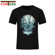 Cheap China Man chothes Dark Forest Skull Top tshirt short sleeve camiseta real de madrid 2017 men t shirt camisa masculina Tees(China)