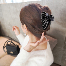 Elegant Crystal Stripe LOVE Heart Hair Accessories Acrylic Big Flower Hair Clip Claw for women Fashion Hair Jewelry wholesale