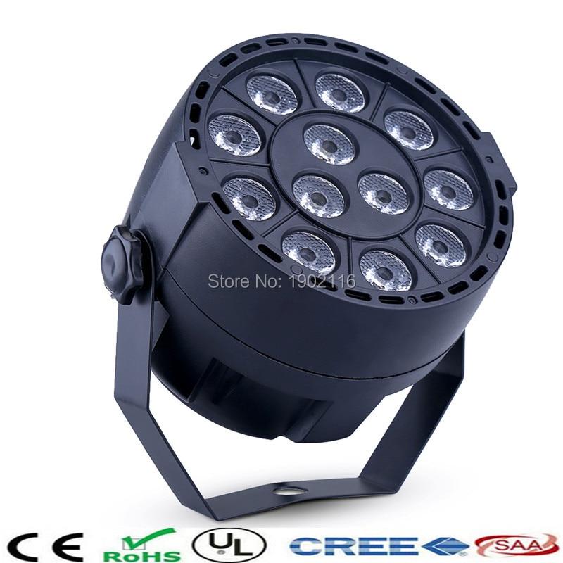 High quality led flat par/12 X3W LED RGBW Projector/Party Club DJ Stage Light/ DMX512 par Lighting/christmas party light<br><br>Aliexpress