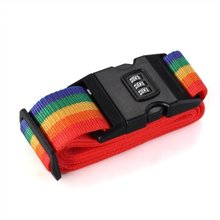 2016 1pcs 2m baggage Belt  Minorder Rainbow Color Travel Luggage Suitcase Strap Secure Lock Password  Belt Strap
