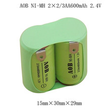 1X Original NEW 2*2/3AA 600mAh 1.2V NIMH Rechargeable Battery Pack With Pin For Philips razor shaver AOB NI-MH Batteries