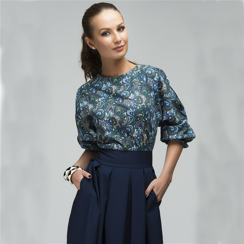 Fall 2017 Fashion Women Floral Printed Party Dresses Autumn Christmas Casual Elegant Prom Midi Dress Plus Size 5