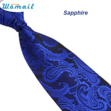 Womail Newly Design Men's Fashion Classic Paisley Mix Color Jacquard Woven Silk Mens Ties Neckties Dec14 Drop Shipping