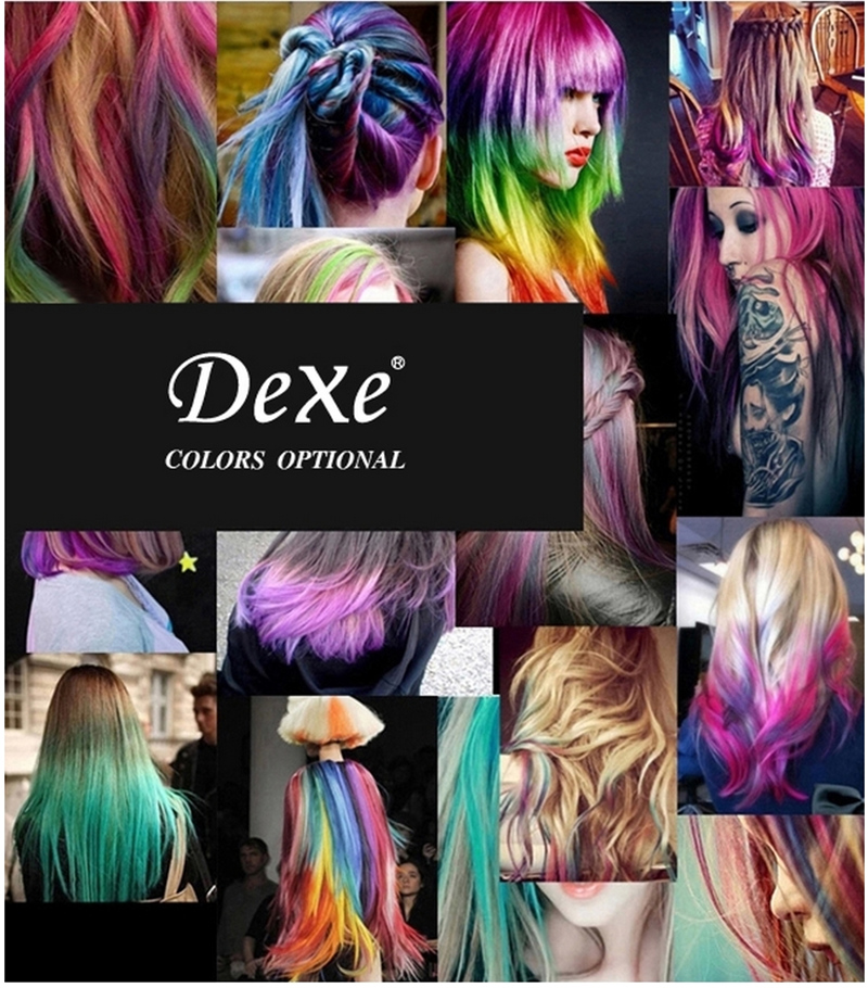Dexe Temporary Hair Color Chalk Powder Beauty Gaga Halloween Party Makeup Disposable DIY Super Hair Dye Colorful Styling Kit 1