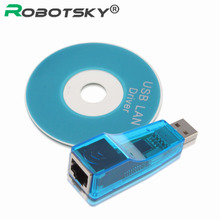 USB 2.0 To RJ45 LAN Adapter 10/100Mbps High Speed USB to RJ45 Ethernet Network Card Converter For Win7 Tablet PC With CD Driver(China)