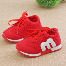 Fashion Breathable Little Kids Children Girls Boys Baby Soft Bottom Sport Mesh Sneakers toddler casual shoes 1 2 4 6 7 years old(China)