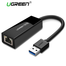 Ugreen USB Ethernet Adapter Usb 3.0 2.0 Network Card USB to Ethernet RJ45 Lan Gigabit Internet for Windows 7/8/10 USB Ethernet(China)