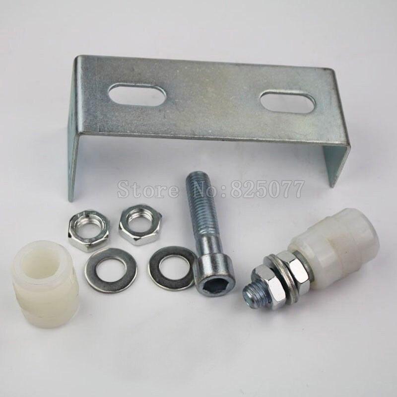 1PCS Sliding Gate Upper Guide Nylon Roller w/ Electroplated Bracket Anti-Rush ED67<br>