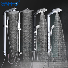 GAPPO bath shower faucets set bathroom shower tap wall mount faucet mixer wall shower set Waterfall ABS Panel Massage big shower(China)