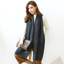 The new 2017 knitting wool scarf Korea heat dissipation shopkeeper recommend winter long warm towel