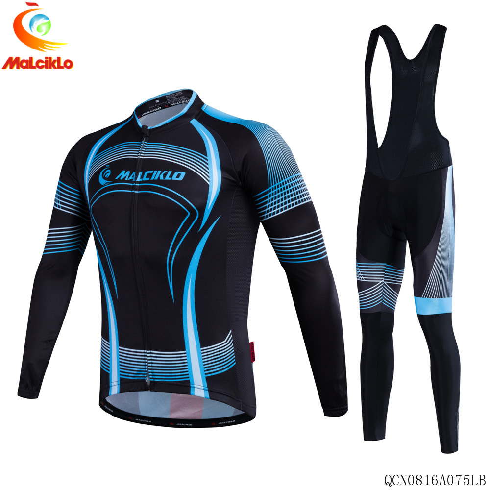 Malciklo Brand 2017 High Quality Newest Pro Fabric Thin Cycling Jersey Wear Long Set Ropa Ciclismo Bike Clothing Pants L018<br>