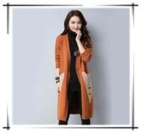 2018-New-Spring-Autumn-Knitted-Cardigan-Sweater-Women-Winter-Korean-Jackets-Long-Coats-Women-s-Pocket