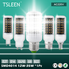TSLEEN 11.11 Big Sale +Cheap+ 220V G9 E14 E27 25W 30W 36/56/72/96/138 LED 4014 SMD Cover Corn Light Lamp Bulb