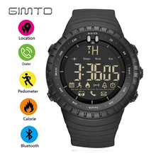GIMTO Brand Digital Sport Smart Men Watch Waterproof LED Military Male Shock Watches Bluetooth Pedometer Smartwatch Relogios(China)