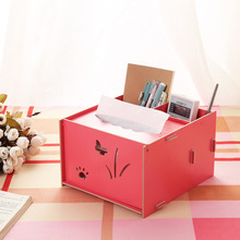 Manufacturer find show Seoul 19 Mini cute smile wood cosmetics containing DIY tissue box