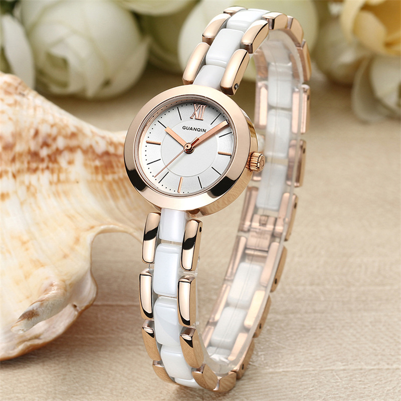 Relojes Mujer 2017 GUANQIN Fashion Waterproof 100M Quartz Watch Women Luxury Ceramic Bracelet Brand Wristwatch relogio feminino<br><br>Aliexpress