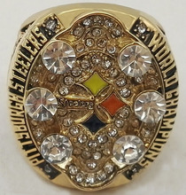 Wholesale 2008 Super Bowl Pittsburgh Steelers Custom Sports Replica Jewelry Men World Championship Ring(China)