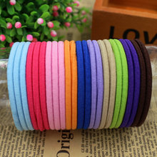 3pcs/lot 2015 New Fashion 11 Colours basic Hair Holder Rubber Bands Elastics Girl Women Hair Accessories Tie Gum Free Shipping