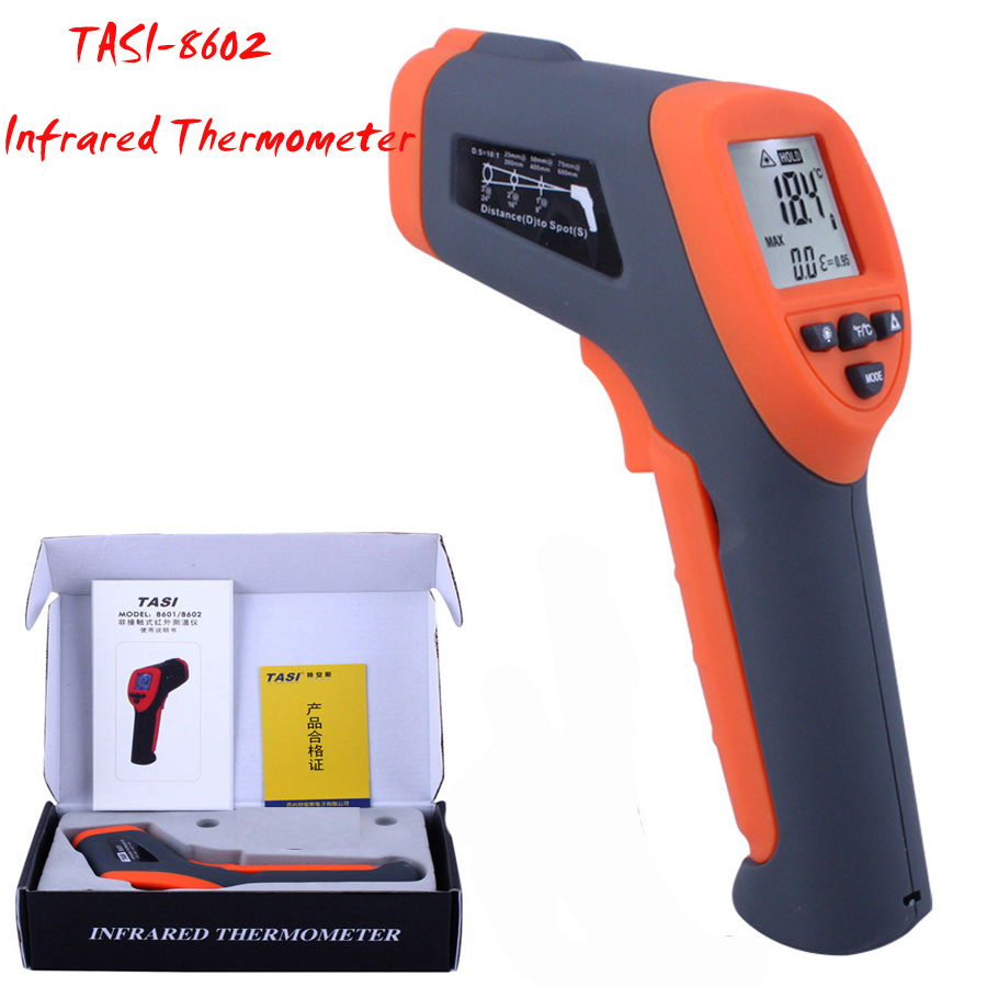 TASI-8602 Infrared Thermometer -42 ~ 550 C thermometer, non-contact High Precision temperature measurement tool<br><br>Aliexpress