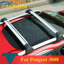 Top Quality Thick Aluminium Alloy Car Top Roof Rack Cross Bar Luggage Bicycle Holder For Peugeot 3008 Year 2014 2015 2016 2017