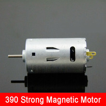 Large Torque 390 Motor Strong Magnetic Electric Drill Motor High Speed 12V 13000RPM DIY Model Motors