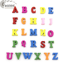 WEEDDIE 100pcs 15mm Mixed Letter alphabet nonporous wooden Scrapbooking Carft for decoration Diy