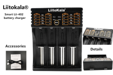 LiitoKala Lii-402 18650 Rechargeable Battery Charger lii402 for 1.2V/3.7V/AA/AAA/18650/26650/14500/16340/17500/NiMH/Cd Batteies