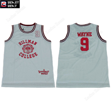 Beast Beat Men's Hillman College #9 Wayne Throwback Basketball Jerseys White Different World Edition Retro Sport Shirt Wholesale