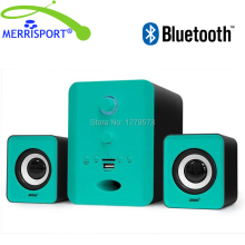Bluetooth Speakers with Subwoofer , 3.5mm AUX Port For Desktop PC , Laptop , Smartphone & Other Bluetooth-enabled Devices Blue