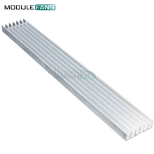 2pcs Silver-White Heat Sink LED 150x20x6mm Heat Sink Aluminum Cooling Fin(China)