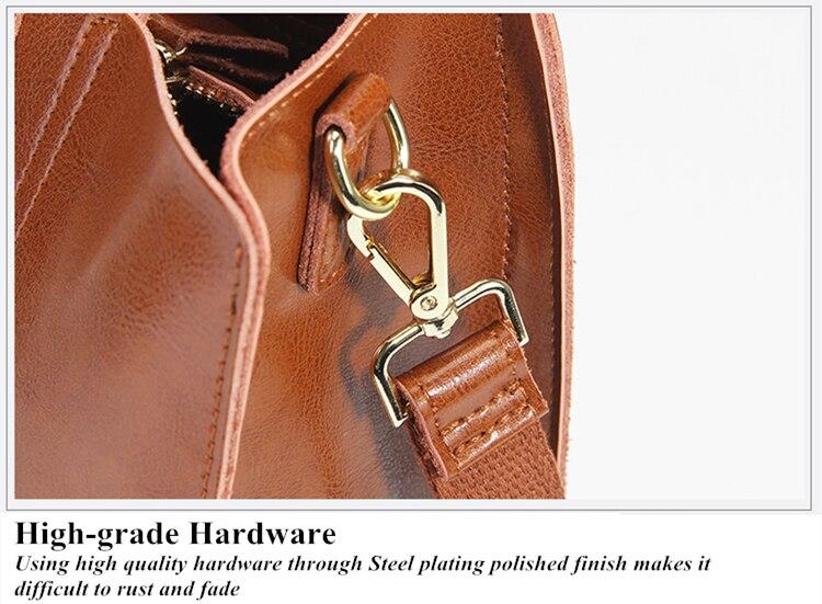 Burminsa Brand Real Leather Handbags Ladies Genuine Leather Tote Hand Bags Female Designer Shopper Shoulder Bags For Women 2017