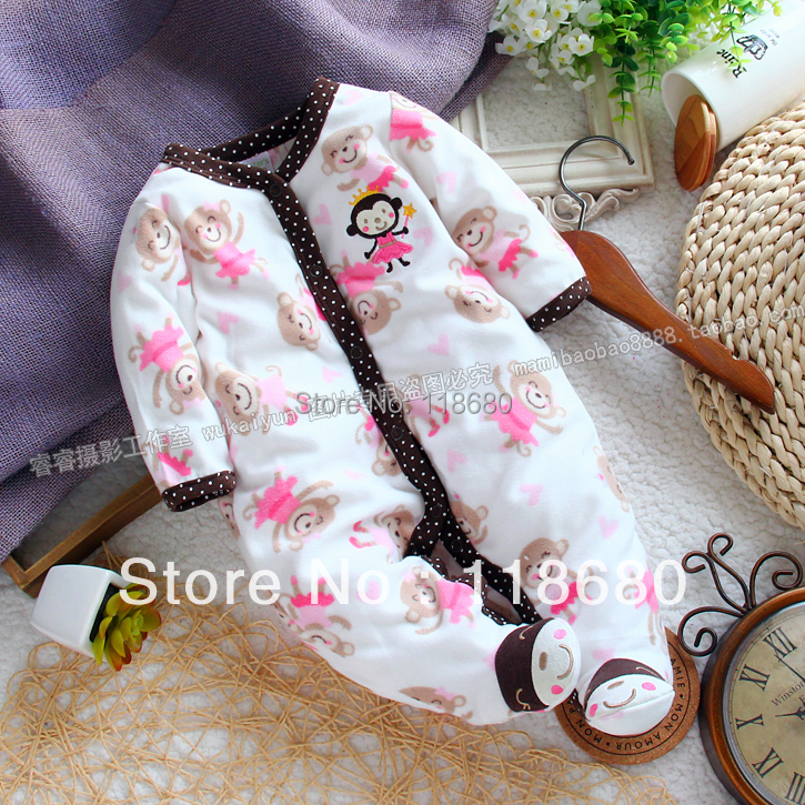 new 2014 spring autumn baby clothing baby girl romper polar fleece fabric newborn long sleeve rompers kids overall baby wear<br><br>Aliexpress