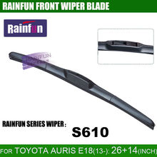 "RAINFUN dedicated car wiper blade for TOYOTA AURIS E18(13-), 26""+14"" auto wiper with high quality rubber refill"