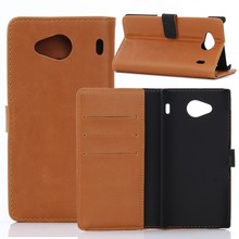 50pcs/lot Vintage Wallet Leather Case with 3 Card Slots For Kyocera Urbano V03 Crazy Horse Phone Cover with Stand(China)