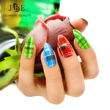 Stiletto Fake False Nail Tips Full Cover Fake Almond Nail Art Tips Stick On UV Long Artificial Pointy Fake Fingernail With Glue