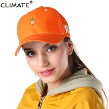CLIMATE 2017 New Spring Fruit Fresh Cute Lovely Color Girls Youth Baseball Cap Hat Summer Lovely Pink Orange Purple Yellow Caps(China)