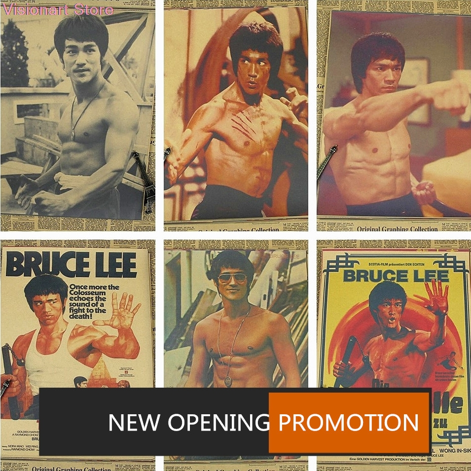 Bruce Lee Master Legend Art Silk Poster 13x20 24x36 inch Kung Fu Star Home Decor