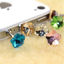 10Pcs Crystal Diamond Dustproof Anti Dust Phone Plugs For 3.5Mm Headphone Earphone Jack Smart Phone Plug Mobile Accessories