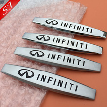 2pcs INFINITI logo Car Fender side Emblem Badge Decal rear bumper trunk Sticker for Q50L QX50 QX60 QX70 QX80 G25 JX35 ESQ(China)