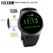 Kingwear bluetooth Smart Watch KW18 Round Screen support SIM TF card Heart rate music bluetooth smart watch kw18 For IOS Android(China)