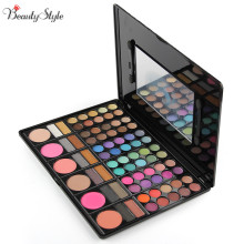 78 Colors Neutral Warm Eyeshadow Eye Shadow Cosmetics Mineral Make Up Professional Shimmer Makeup Pigment Palette Kit & Mirror