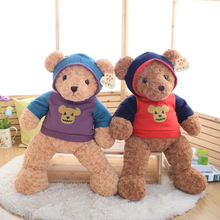 Big 60cm Cute Cartoon Violence Bear Plush Stuffed toy Soft Teddy Bear With Sweater T-shirt Doll Halloween Children Girls Gifts(China)